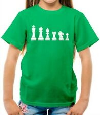 Chess Pieces Kids T-Shirt - Games - Board Game - Player - Checkmate - King