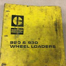 Cat Caterpillar 920 930 Service Shop Repair Manual Wheel Loader Guide Sn 41k 62k
