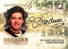 10-11 itg decades 80s richard brodeur vancouver canucks autograph auto
