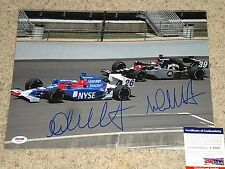 MICHAEL ANDRETTI & MARCO ANDRETTI SIGNED INDY CAR 11x14 PHOTO psa/dna