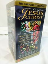 VHS 4 Video box set Life of Jesus Christ complete Movie collection Birth Risen