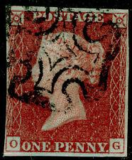 SG8, 1d red-brown PLATE 32, USED. Cat £60. BLACK MX. OG