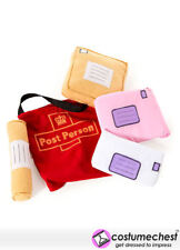 Postie Soft Role Play Toy Post Person Postman Postlady Delivery Bag And Letters