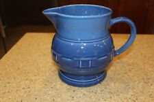 Longaberger Pottery 2 Qt Pitcher Cornflower Blue Woven Traditions