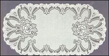 "Oval, white, lace,table runner NEW (60 x 120cm) (23.5""x 47"")perfect gift/present"