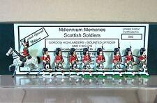 SCOTTISH TOY SOLDIER COMPANY GORDON HIGHLANDERS & OFFICER MARCHING x 9 c1900 m