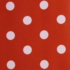 LUSSO IN PVC ROSSO TABLECLOTH tessuto incerato White Spot tessuto * AL METRO