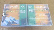 """2 Maxell DLT IV Tapes 40/80 Gigabyte 1/2"""" Cartridge"""