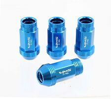 VMS 16 PIECE RACE LIGHT WEIGHT WHEEL RACING LUG NUTS 7/16 -20 BLUE OPEN END