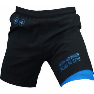 Chaos and Order Balance Series 2-Layer Premium No-Gi BJJ Shorts - Black