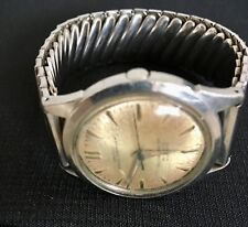 Jewels Men's Wrist Watch Stainless! Vintage Croton Nivada Grenchen Aquamatic 25