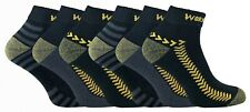 6 Pairs Cotton Mens Black Ankle Short Work Socks for Boots (SK071)
