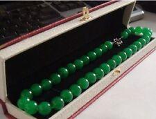 """18""""Elegant Huge 14Mm Natural Circular Aaa+ Green Jade Necklace Aaa"""