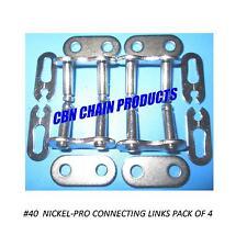 #40 Connecting Master Link, 40 Chain Go Kart Mini Bike Nickel Plate Pack of 4