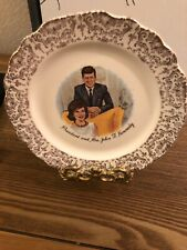 Vintage President And Mrs. John F Kennedy Plate