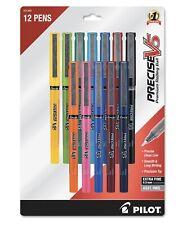 Pilot Precise V5 Premium Pens Extra Fine 05mm 12 Pk Assorted Ink Color 31888