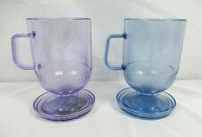 New listing Set of 2 Tupperware 8oz Preludio Acrylic Mugs #2002 with Coordinating Coasters
