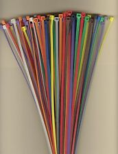 """100 14"""" Inch Long 50# Pound Nylon Cable Ties 10 COLORS Zip Tie Ty Wrap MADE USA"""