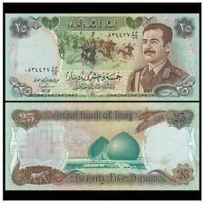 Iraq 25 Dinar 1986 (UNC) 全新 伊拉克 25第纳尔 纸币 1986年版 萨达姆头像