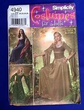 Lord of the Rings Costume Pattern Womans Simplicity 4940 Renaissance 20-26 UNCUT
