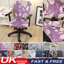 Split Slipcover Computer Office Chair Cover Stretch Protector Desk Rotating Seat