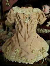 Robe pour poupée ancienne jumeau steiner sfbj bru porcelaine dress antique doll