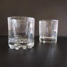Duo de verres glasses vintage art déco design XXe PN France