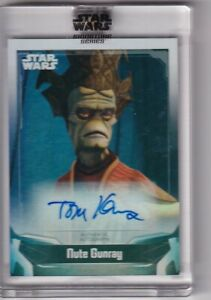 2021 TOPPS STAR WARS SIGNATURES SERIES AUTO AUTO TOM KENNY as NUTE GUNRAY