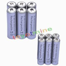 6 AA 3000mAh + 6 AAA 1800mAh 1.2V NI-MH Rechargeable Battery 2A 3A Grey Cell