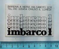 ALTER AUFKLEBER ADESIVO STICKER IMBARCO 1 ANNI '80 VINTAGE 9x6 cm
