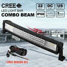 "22""inch 270W LED Curved Light Bar Spot Flood Combo Offroad + Wiring Harness"