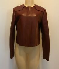 NWOT $1990.00 Sport Max Max Mara Lamb Leather Streamlined Biker Jacket Sz 12