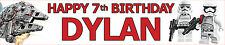 LEGO STAR WARS PERSONALISED BIRTHDAY BANNERS PACK OF TWO OPT2