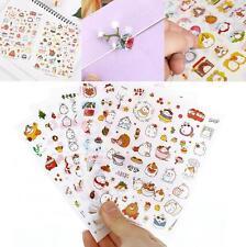 6 pcs Cute Kawaii Rabbit Girl Color Decor Diary Sticker Scrapbooking Craft Gift