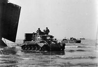 6x4 Photo ww708 Normandy DDAY Gold Beach Jig Green Cromwell 7th Armoured Lst