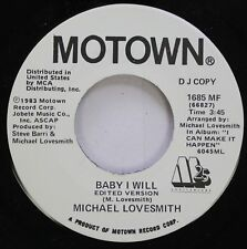 Soul Promo 45 Michael Lovesmith - Baby I Will / Baby I Will On Motown