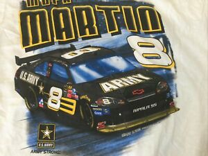 VINTAGE NASCAR Mark Martin Army Racing Shirt NWT NOS XL Earnhardt