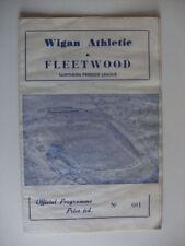 Away Teams S-Z Wigan Athletic Non-League Football Programmes