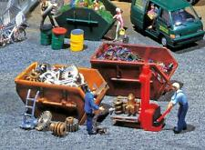 Faller HO Scale Scenery Accessory Kit Tipping/Portable Trash Dumpsters 2-Pack