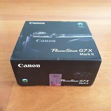 BRAND NEW / SEALED - Canon PowerShot G7 X Mark II Compact Camera 20.1 MP - Black