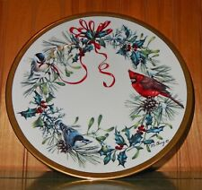 "Lenox Winter Greetings Collector Plate 8"" Gold Trim Cardinal Signed #A5009 Rare"