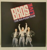 BROS Live The Big Push Tour 1988 JAPAN Laserdisc no OBI INSERT 35.4P-116