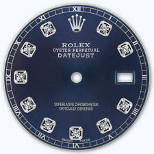 REFINED MENS SS DATEJUST NAVY BLUE DIAMOND DIAL RT FOR ROLEX-36