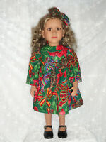 New Handmade Christmas Dress and Headband   for 23'' My Twinn Doll