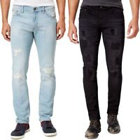 New Ring of Fire Branded Skinny Slim Fit Stretch Jeans Ripped Denim Pants 30-40