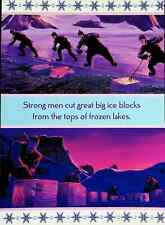 Strong Men Cut Ice Blocks -  Disney Pixar Frozen 2 Movie Mini Poster 8x11