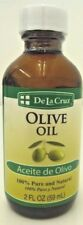De La Cruz Olive Oil 100% Pure And Natural  ( aceite de olivo ) 2 OZ