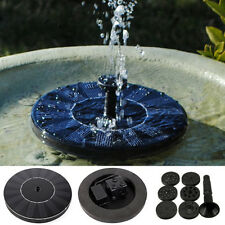 Water Floating Pump Solar Panel Power Fountain Pool Garden Plant Watering Kit WG