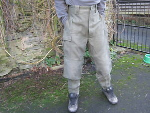 Belgian Army Heavy Weight Combat Trousers Thick Tough Green Warm Work Surplus