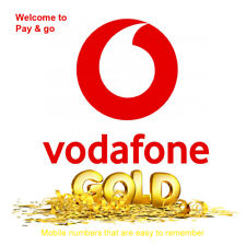 Vodafone Gold VIP Easy Memorable Mobile Number Pay As You Go PAYG SIM Card